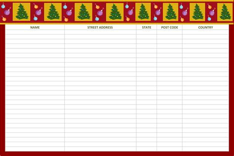 printable christmas list template festival collections