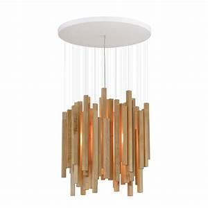 Hängeleuchte Holz Design : au ergew hnliche h ngelampe mit holzblende ~ Markanthonyermac.com Haus und Dekorationen