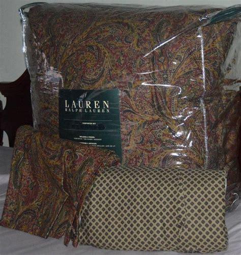 Ralph Paisley Bedding by Ralph Jacqueline Burgundy Paisley King Comforter