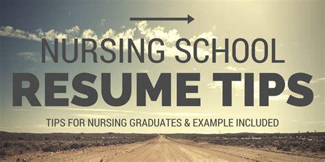 School Resume Tips by Nacole Nursing Resources Nursing School Resume Tips
