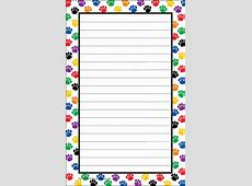 Colorful Paw Prints Notepad TCR5087 Teacher Created