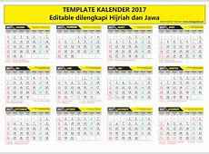 TEMPLATE KALENDER 2017 Vector Ai Eps Cdr Editable + Fonts