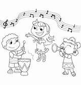 Singing Coloring Children Clipart Music Sheets Pages Sing Colouring Meeting Playing Band Preschool Program Cliparts Clip Musical Choir Vector Printable sketch template