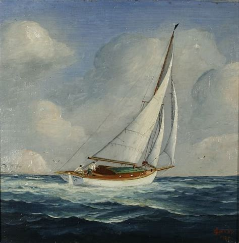 Sailboat Oil Painting by 301 Moved Permanently