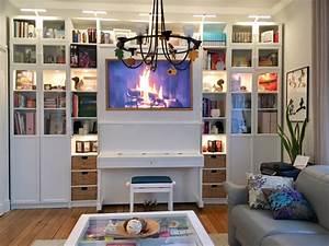 Ikea Billy Regal : so baust du eine stilvolle wohnwand aus ikea billy regalen new swedish design ~ Frokenaadalensverden.com Haus und Dekorationen