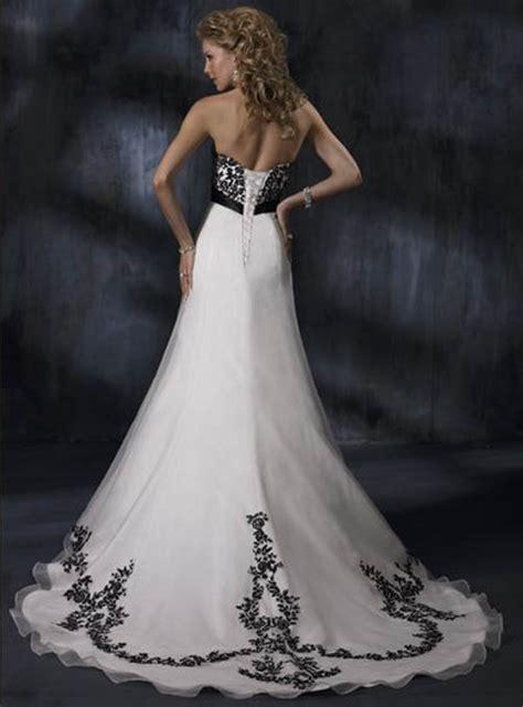 black  white wedding dress decoration designs wedding
