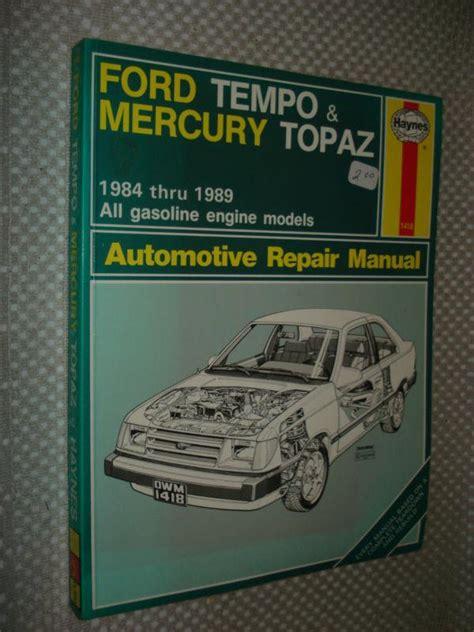 find   ford tempo mercury topaz shop manual