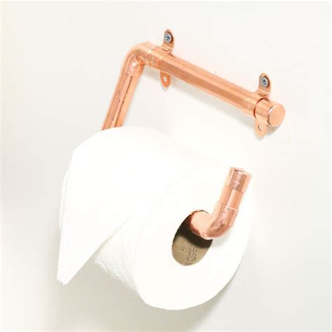 stylish diy copper toilet paper holders shelterness