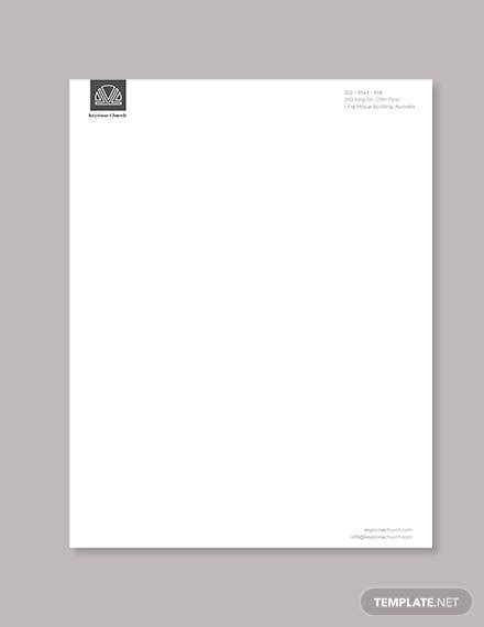 Obtain artistic letterhead templates with paintings & emblem design for adobe indesign, illustrator, microsoft writer, phrase, pages, quarkxpress, coreldraw. FREE 5+ Sample Church Letterheads in AI   InDesign   MS ...