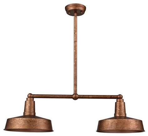 industrial vintage style copper kitchen island light