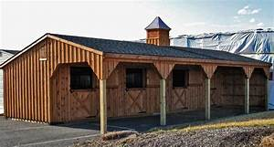 12x42 shedrow horse barn includes 3 12x12 stalls and With 8 stall horse barn