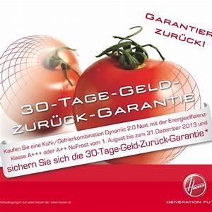 Garantie Auf Elektrogeräte : geld zur ck garantie auf hoover k hl gefrierkombinationen ~ Watch28wear.com Haus und Dekorationen