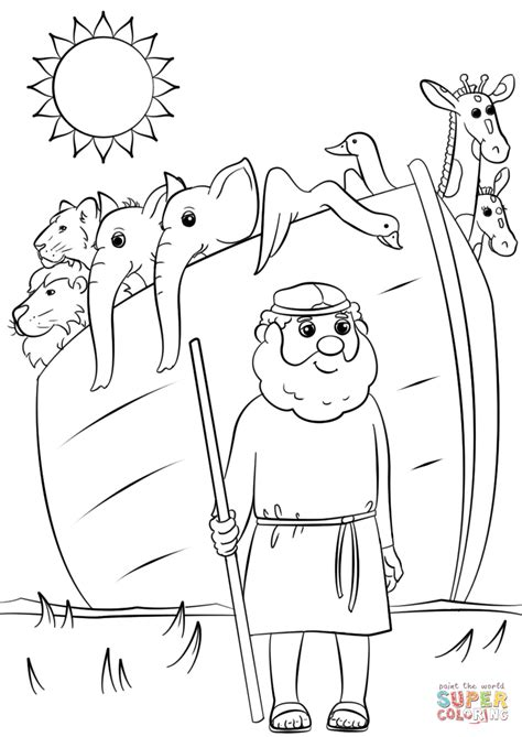 noahs ark animals    coloring page