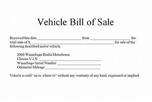 download bill of sale form pdf With as is vehicle bill of sale template