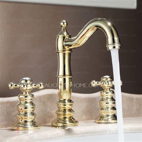 vintage bathroom sink faucets vintage polished brass finish widespread bathroom sink faucets