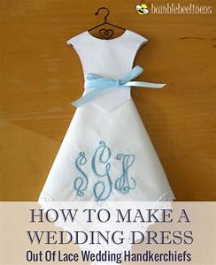 making wedding dress hankie favors With make a wedding dress