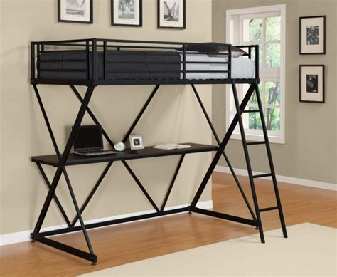 loft bed with desk underneath black metal loft bed with desk underneath whyrll com