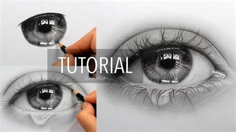 draw shade  realistic eye  teardrop step