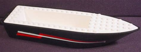 Lego White Boat Hull by Lego X498c01 Black Floating Boat Hull 6 X 24 X 3 With