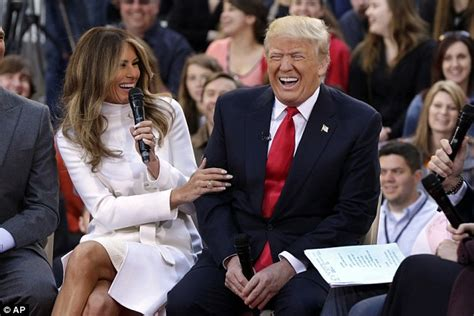 trump donald melania today wife laugh meme child him republican side grandchildren presidential during agony gop team imgflip down april