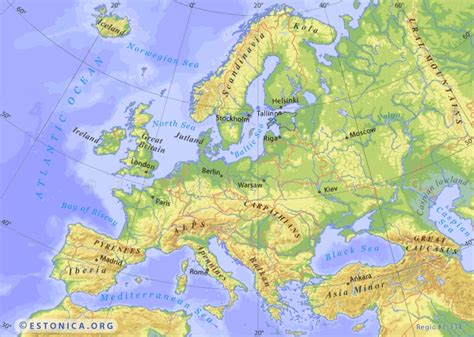 estonicaorg topographic map  europe