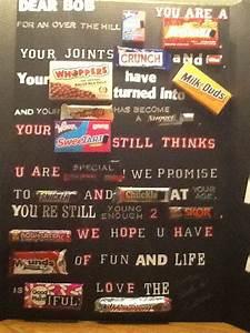 60th, Birthday, Candy, Bar, Card