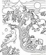Flood Coloring Printable Getcolorings Coloringpages101 Getdrawings Religions sketch template