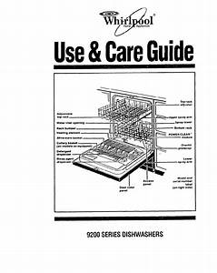 Whirlpool Dishwasher 9200 Series User Guide