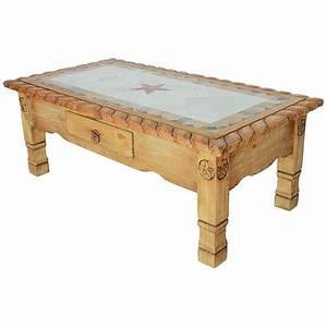 Rustic Pine Collection - Texana Star Coffee Tablew/ Inlaid