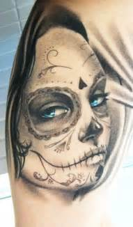 Day of the Dead Sugar Skull Girl Tattoo