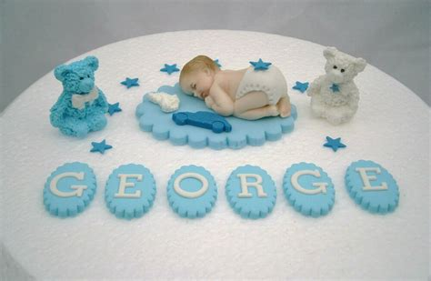 edible baby shower cake decorations personalised edible baby blue christening cake topper baby
