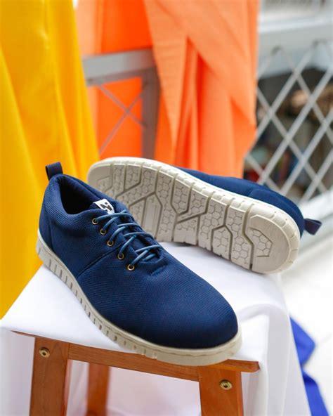 jual sepatu kets pria sneakers cowok keren hitam biru black blue brown sol alas putih microtech