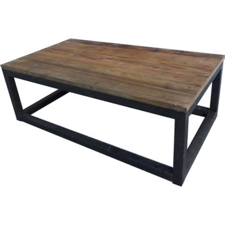 table basse bois et m 233 tal