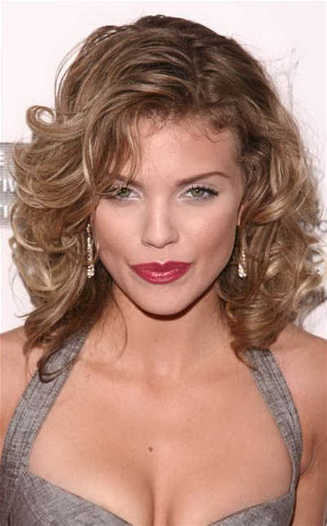 medium length layered curly hairstyles