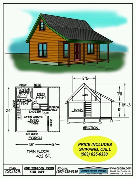 432 sq ft homestead in 2019 cabin floor plans small