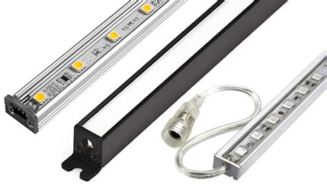led linear light bar linear led light bar fixture w dc barrel connectors