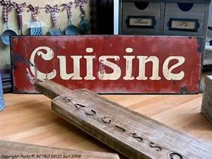 Plaque Décorative Pour Cuisine : plaque m tal cuisine d co r tro antic line dec4932 ~ Premium-room.com Idées de Décoration