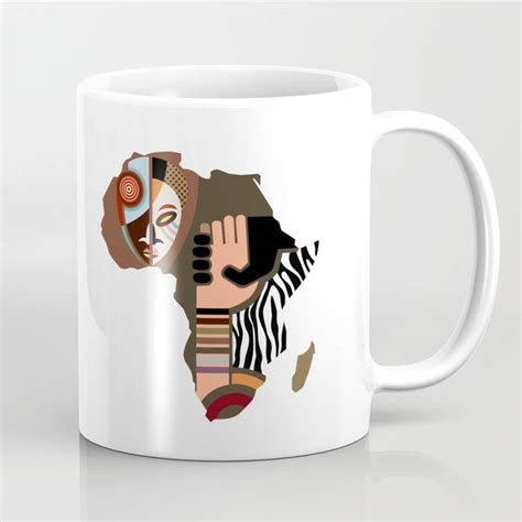 African coffees have vivid floral, fruity, and berry tasting notes. African Map Coffee Mug African Gifts Afro Ceramic Mug Afro