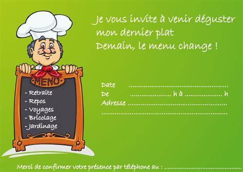 pot de depart en anglais t 233 l 233 charger la carte d invitation de d 233 part en retraite de cuisiner o k u x retraite