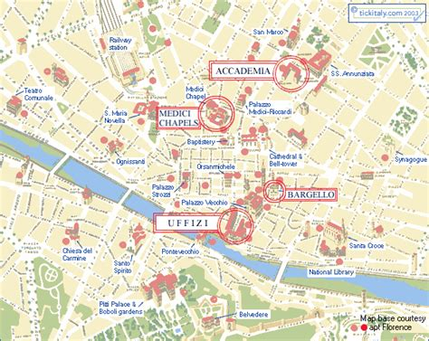 map  florence museums uffizi accademia david