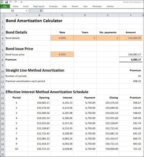 Bond Amortization Calculator   Double Entry Bookkeeping