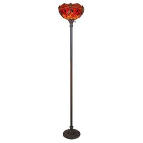 home depot tiffany ls amora lighting 72 in tiffany style dragonfly torchiere