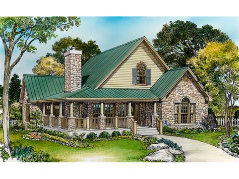 small rustic house plans  porches small country house