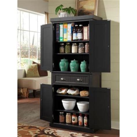 Home Styles Nantucket Black Distressed Finish Pantry 5033