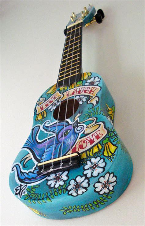 custom ukulele  laugh love  pantone canvas gallery