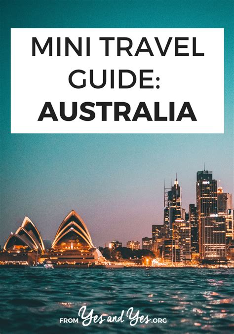 mini travel guide australia