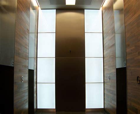 floating panel wall with led lighting traditional basement