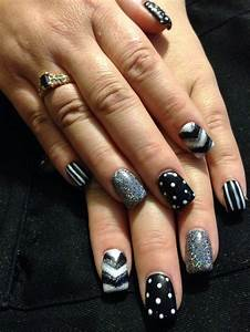 Acrylic nails black and white | Nails | Pinterest ...