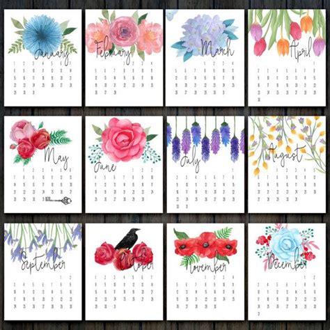 printable floral calendar desk calendar flower calendar