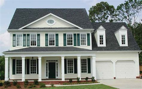 classic center hall home plan ge architectural designs house plans